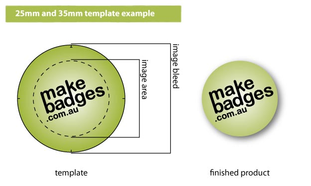 Custom Made badge and Magnet Template Example